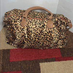 Leopard Print Large Duffle Bag NWOT